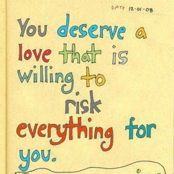 You Deserve A Love