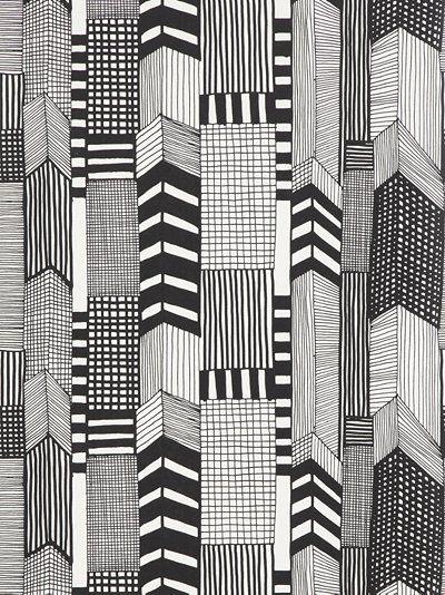 Marimekko Ruutukaava Wallpaper pattern.