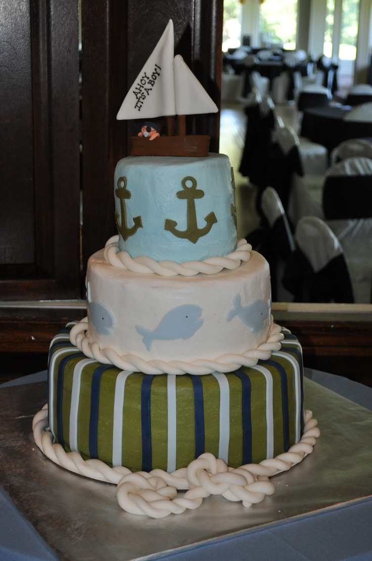 baby shower nautical cake nautical cakes pinterest