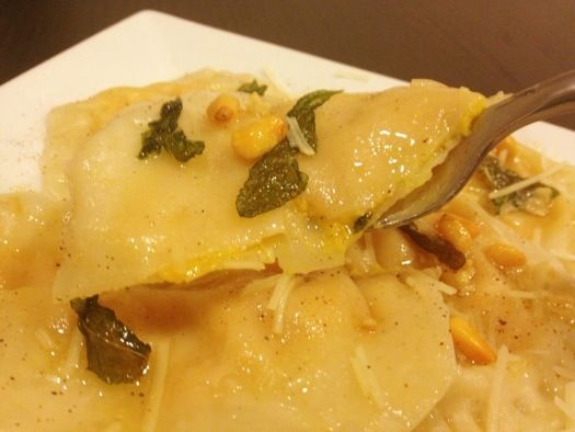 Butternut Squash Ravioli with Browned Butter and Sage***