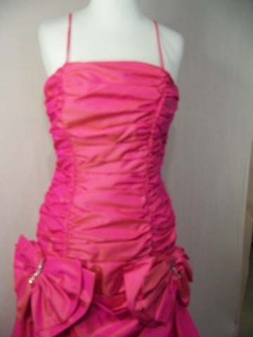 Prom Dress on 80s Ruched Fuschia Prom Party Dress Sz       Vintage 80s Prom