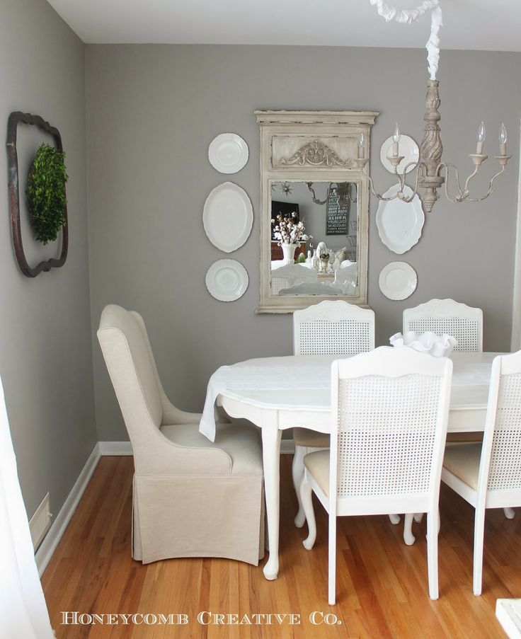 neutral dining rooms 2017 - Grasscloth Wallpaper