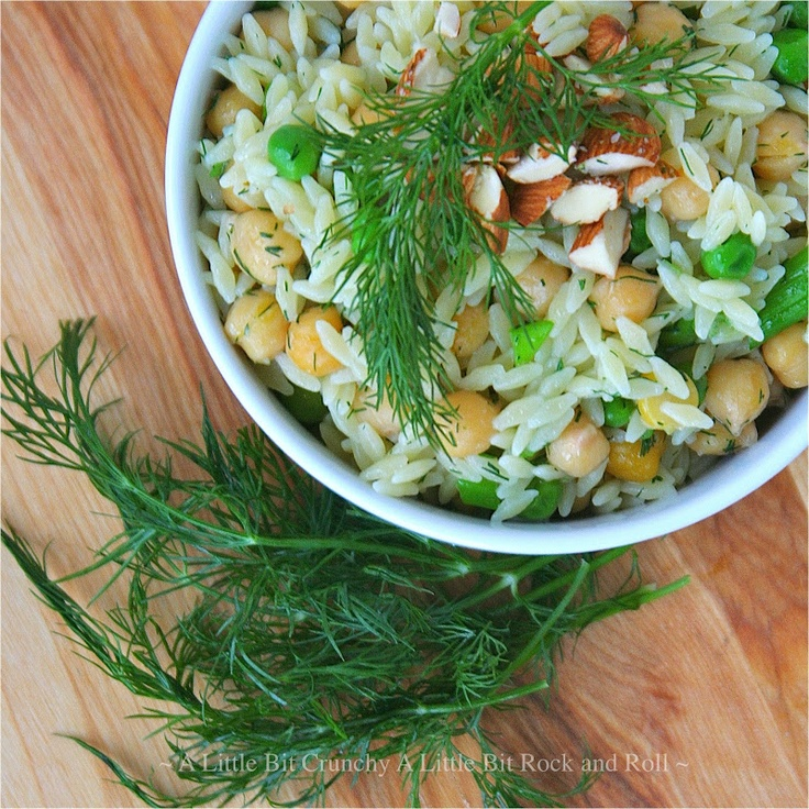 Little Bit Rock and Roll: Orzo with Chickpeas, Lemon, and Dill