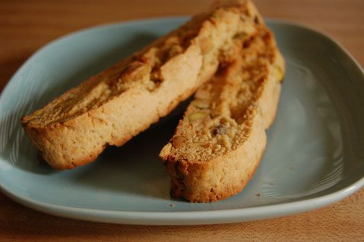 Honey pistachio biscotti, made with olive oil instead of butter, from ...