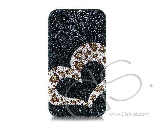 Leopardo Heart Bling Swarovski Crystal Phone Cases  http://www.dsstyles.com/ds.-crystal-swarovski/bling-iphone-cases-swarovski-crystal-studded-partly-leopardo-heart-bling-swarovski-crystal-phone-case.html