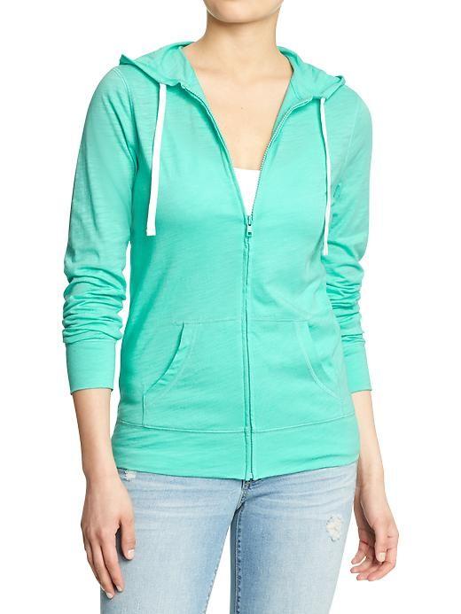 Womens Lightweight Zip-Hoodies | My Style | Pinterest