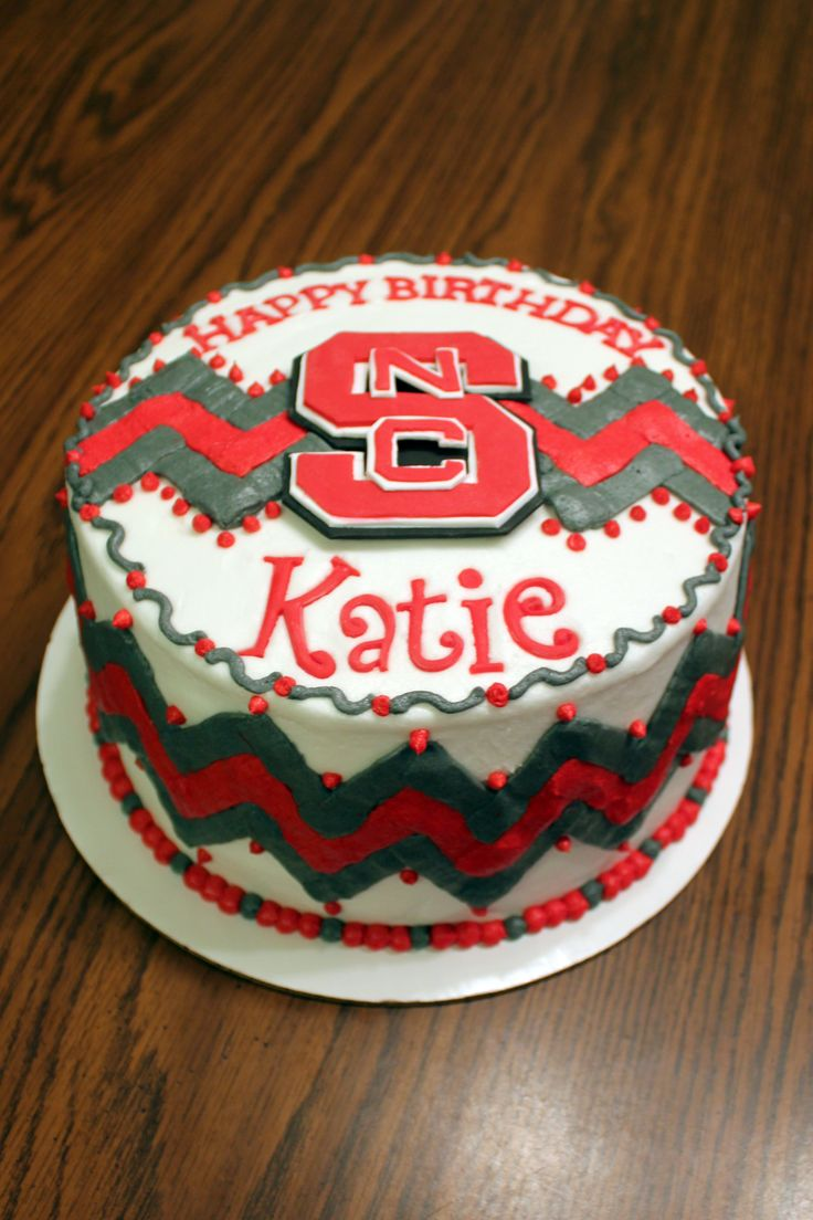 Wolfpack Cake For Graduation