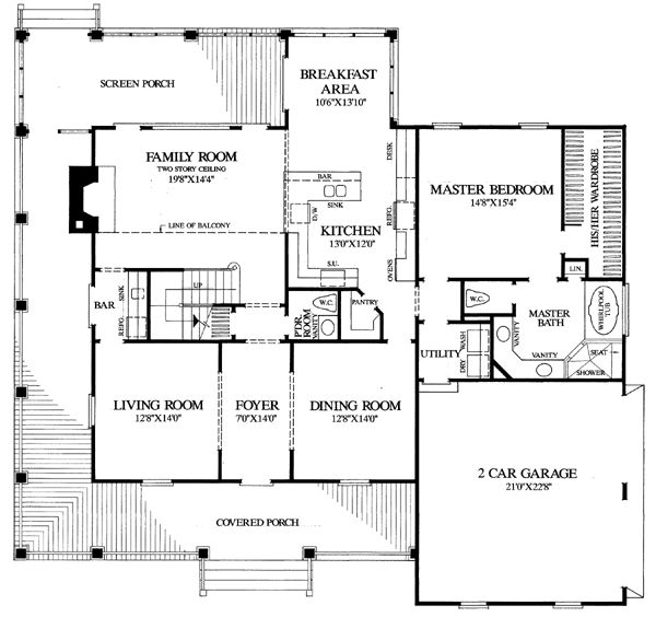 country farmhouse southern house plan 86162