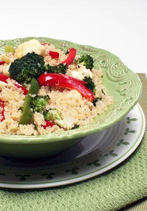 Quinoa with Cauliflower and Broccoli