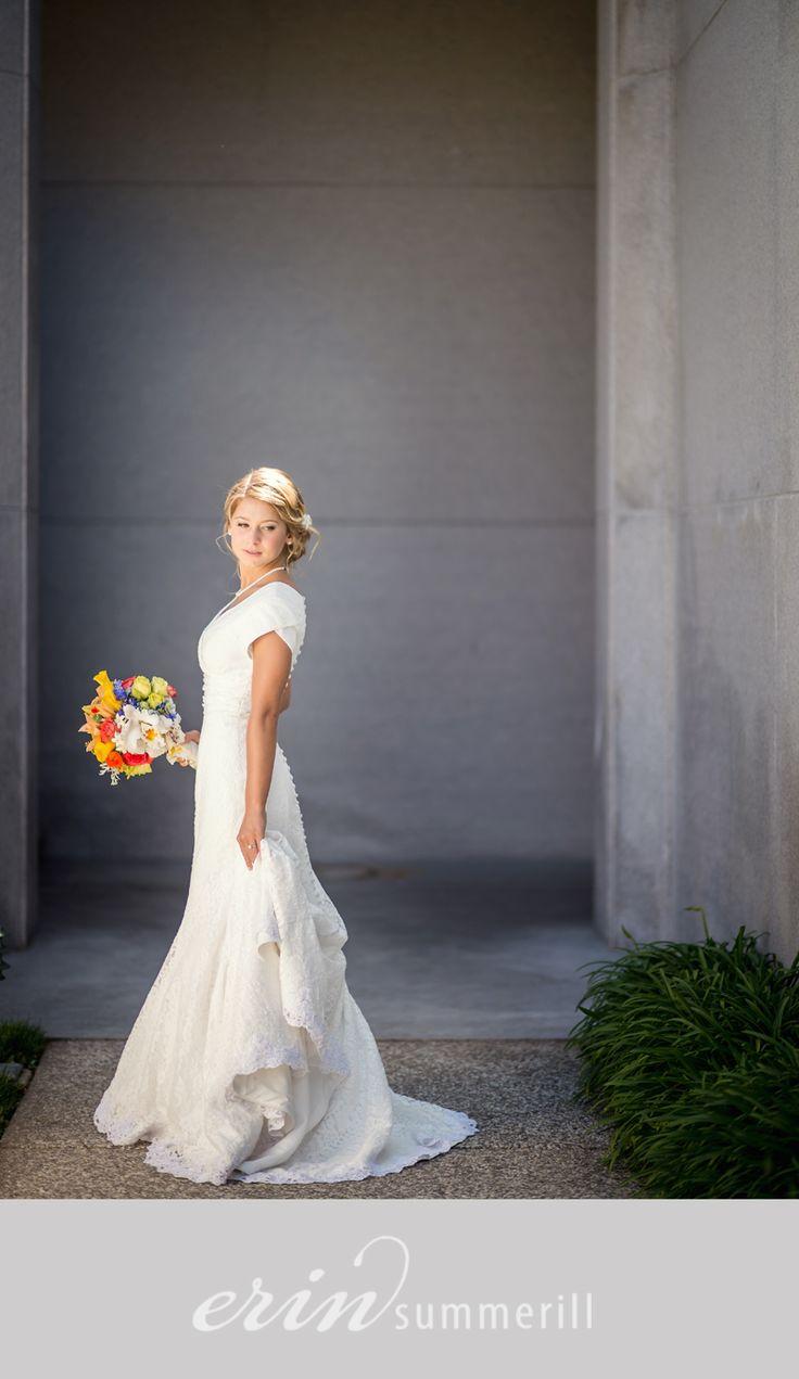 Lds wedding dress dreams pinterest for Mormon temple wedding dresses