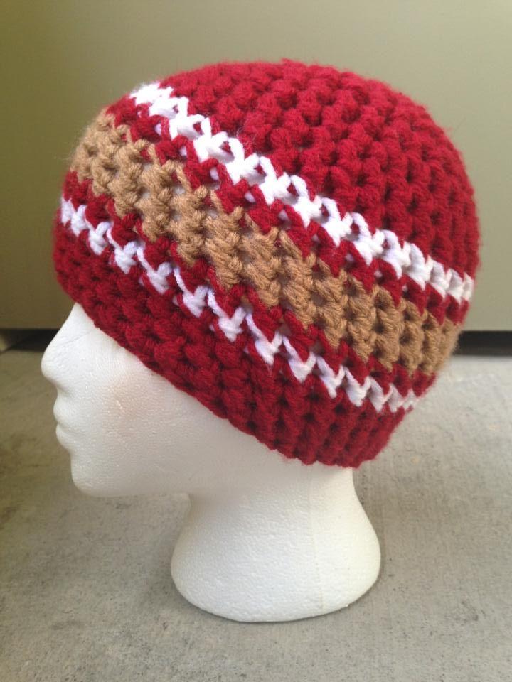 Crochet A Beanie : SF 49ers Crochet Beanie