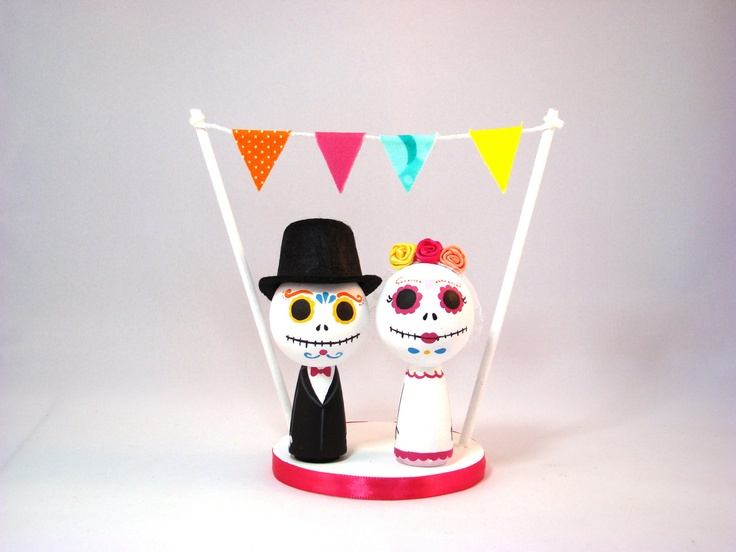 day of the dead wedding cake topper wedding cake toppers pinterest
