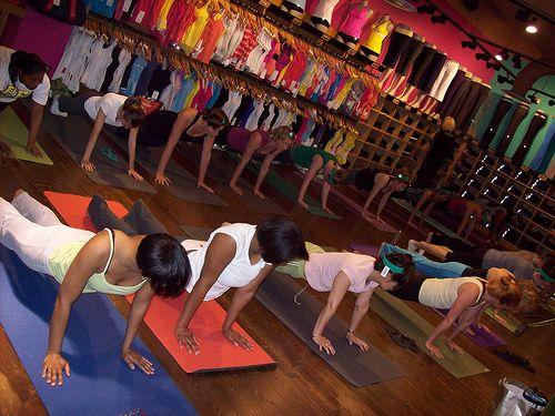 Lululemon in georgetown offers free yoga classes on saturdays in their