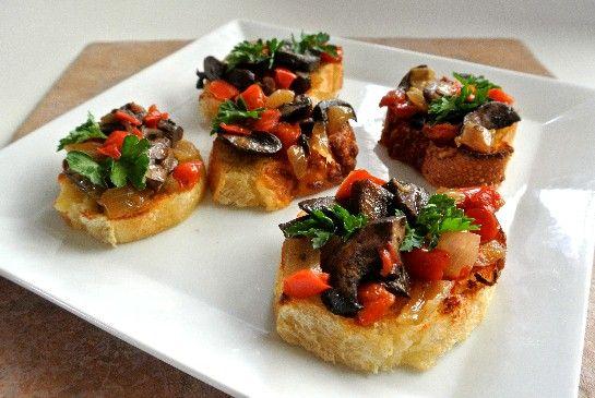 Mushroom Bruschetta Crostini Recipe & Side Dish - Vegan in the Freezer
