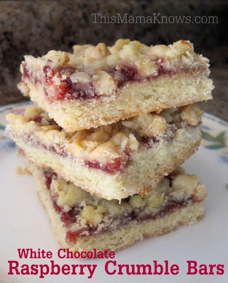 Raspberry Crumble Squares Recipe — Dishmaps