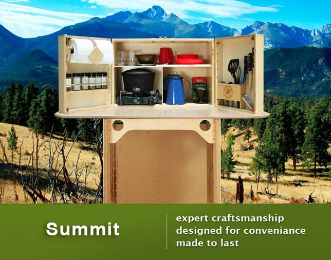 Outdoor camp kitchen love this camping chuck box for Camp kitchen designs