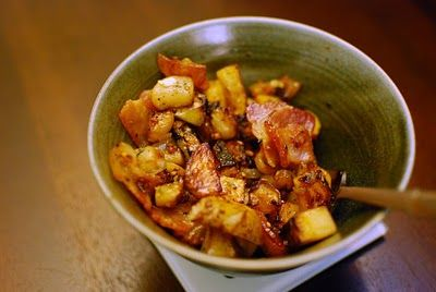 Skillet Turnips and Potatoes with Bacon | NomNom - Dinner | Pinterest