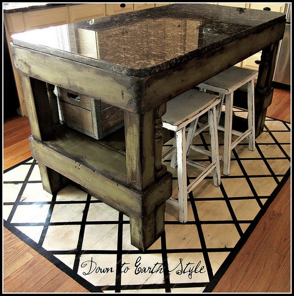 Rustic island kitchen designs pinterest for New build kitchen designs