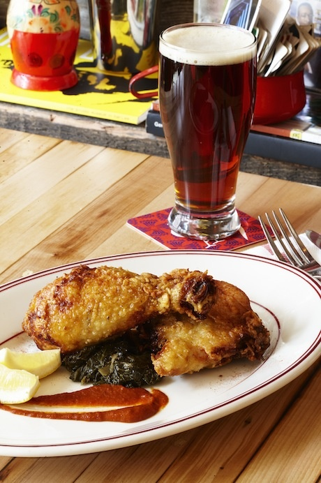 Fried Yardbird recipe by Marcus Samuelsson. Post by Anna Mindess