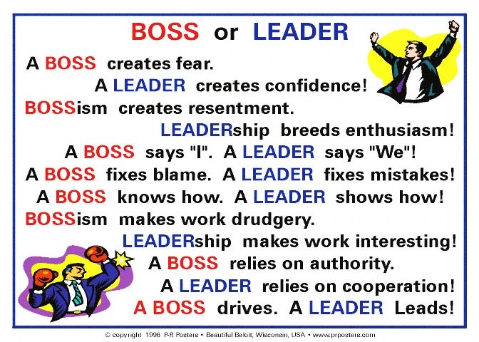 Difference Between Boss And Leader Image Difference Between a Boss a
