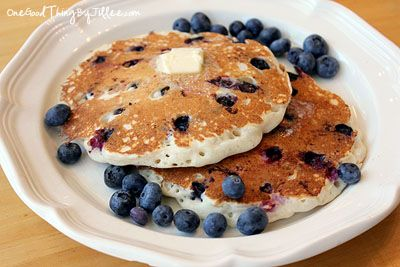 Simple Blueberry Pancakes! | My Favs | Pinterest