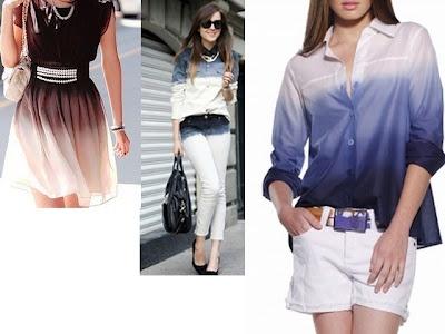 Tingir roupa branca: Efeito degradê (ombrè) e etc. Por Limara Lis  Alinhavos de Moda