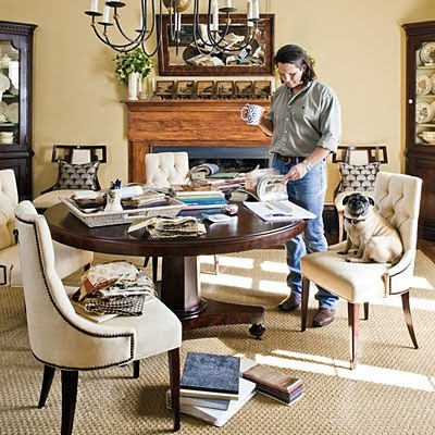 Designer Jamie McPherson in the dining room he uses as his office.