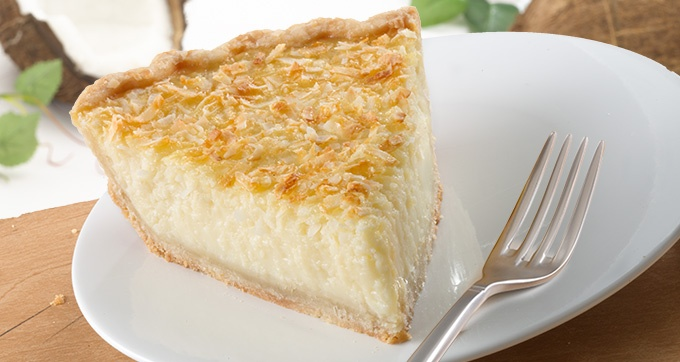 Coconut Custard Pie ... CLEARLY this is NOT my idea of a good time ...