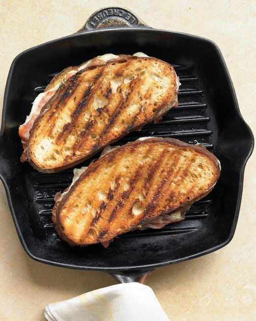 , grill ham and Gruyere cheese between slices of rustic bread. Spread ...