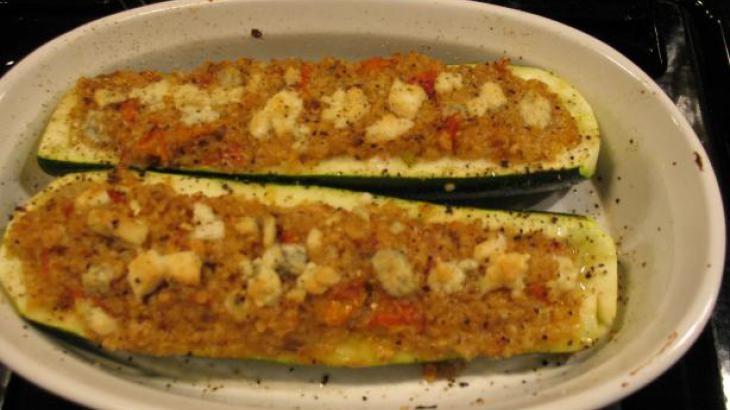 Quinoa Stuffed Zucchini Boats. | A healthier us. | Pinterest