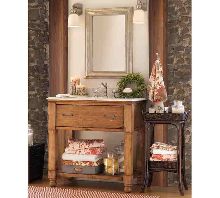 Bathroom sink console from pottery barn bathroom ideas for Bathroom decor pottery barn