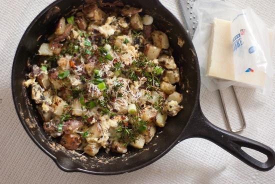 Egg and Potato Breakfast Scramble - huevos y papas breafast tacos will ...