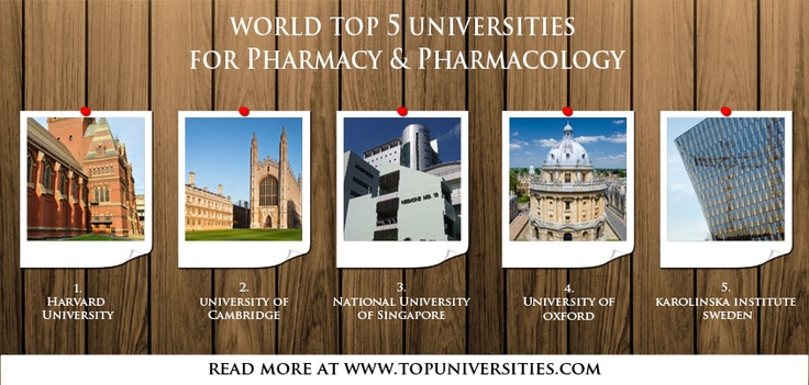 Pharmacy universities by subject