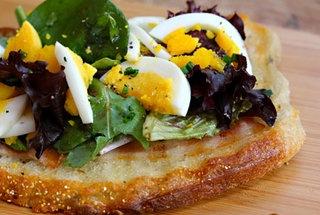Bacon and Egg Tartine | Sammiches | Pinterest