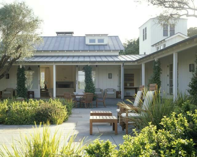 L shaped home cool back yard cottage pinterest for L shaped ranch house