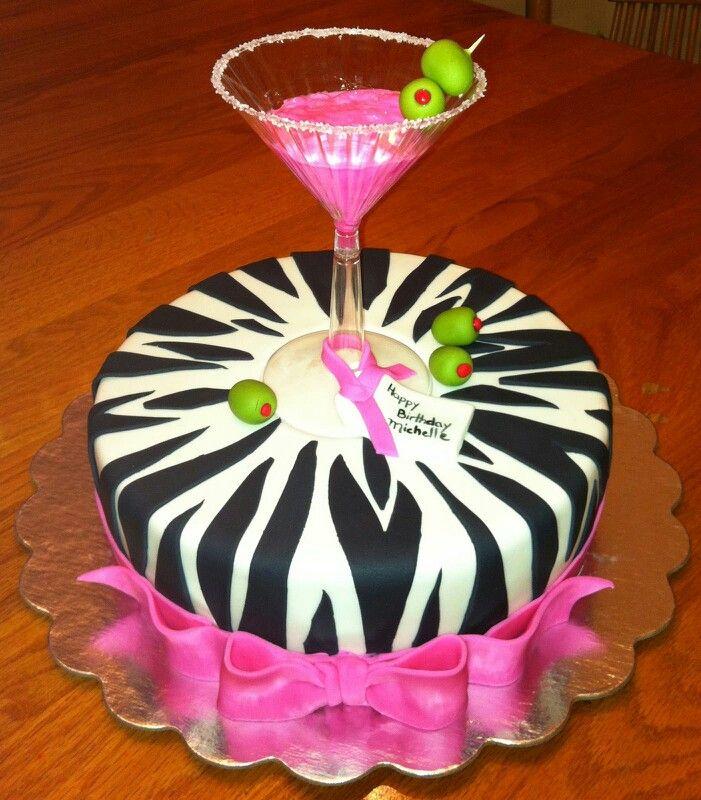 martini glass cake