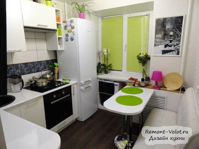 Дизайн маленькой кухни 7 кв.м фото 2015 современные идеи