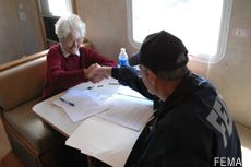 Photograph of a FEMA disaster recovery center