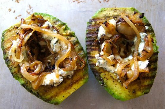 ... on Grilled Avocado with Bacon-Onion Compote and Kerrygold Cashel Blue