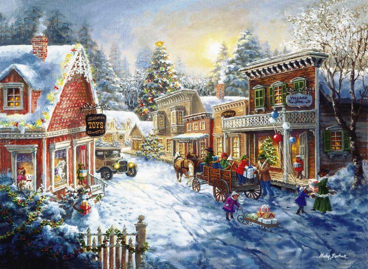 Я люблю эту картину старомодной главной улицы на Рождество - Ники Беме