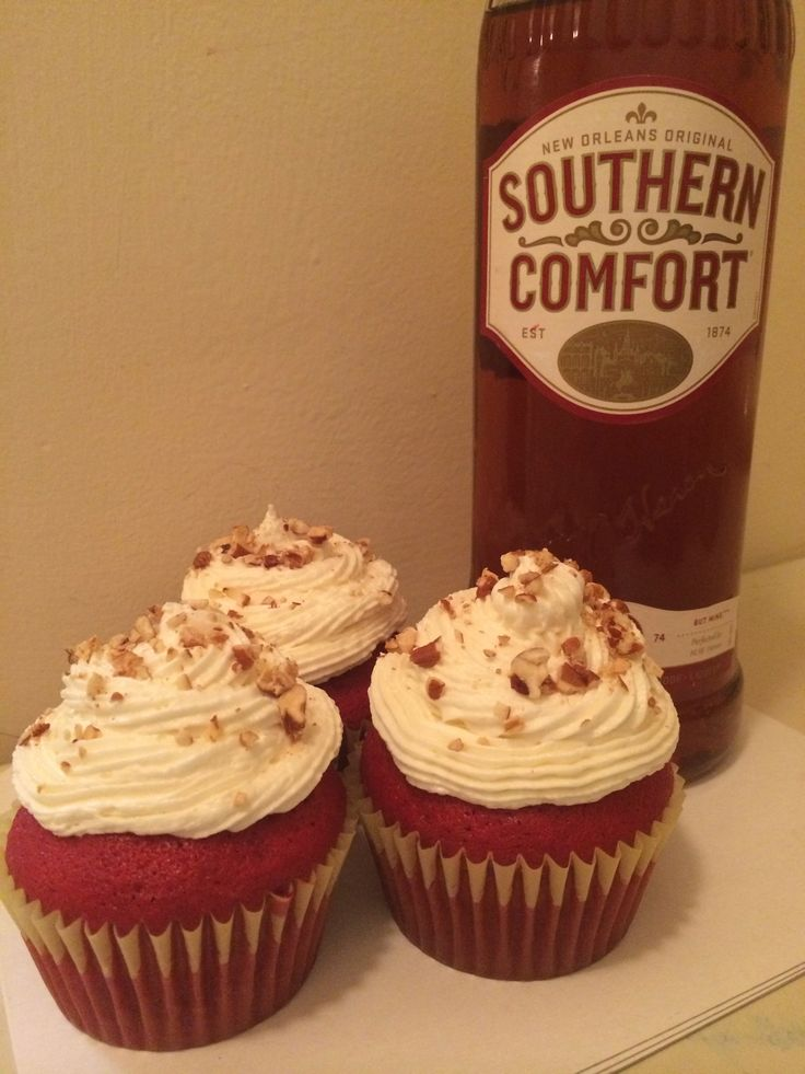 Southern Comfort Red Velvet Cupcakes with a Southern Comfort Cream ...