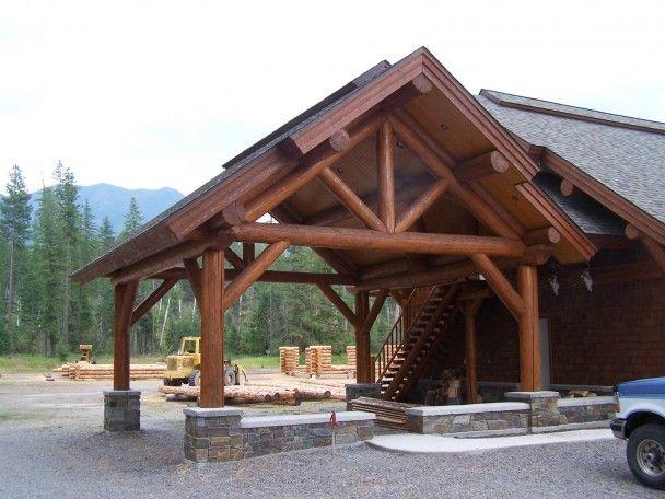 Round Timber Frame Shell Carport New House Pinterest