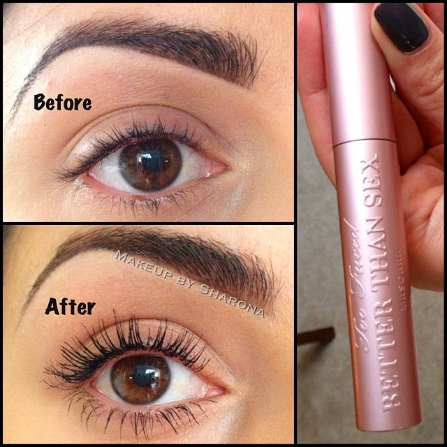 "#ShareIG I am so impressed by this ""Better Than Sex"" mascara from @Too Faced Cosmetics! It took them 3 years to develop it and it was def worth the wait! Trust me, you need this one!"