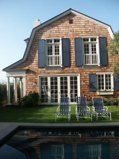 Cedar shakes and blue shutters cedar shake houses and for Cedar shake house
