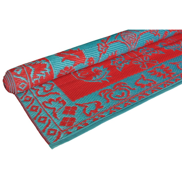 red and teal rug Our New Color Palette