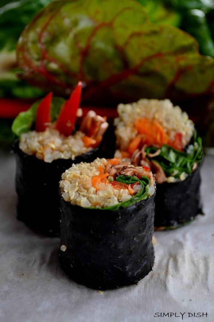Quinoa veggie sushi | Recipes to try! | Pinterest