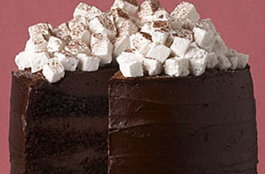 Hot Chocolate Layer Cake with Homemade Marshmallows — Punchfork ...