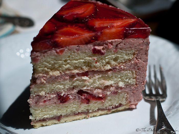 Strawberry Mousse Cake Recipe   Dishmaps