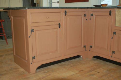Unique Kitchen Cabinets Antique Repro Milk Paint Finish Trade Sho