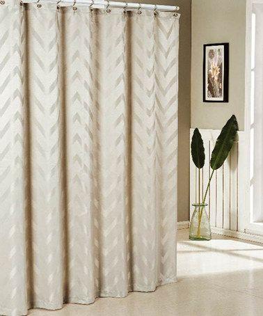 Taupe Behrakis Jacquard Shower Curtain